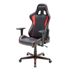 DXRacer FH08/NR Black Red Racing Bucket Seat Office Chair (Red)